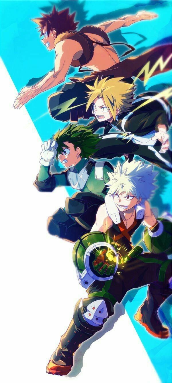 Izuku, Katsuki, Eijirou, Denki, cool; My Hero Academia
