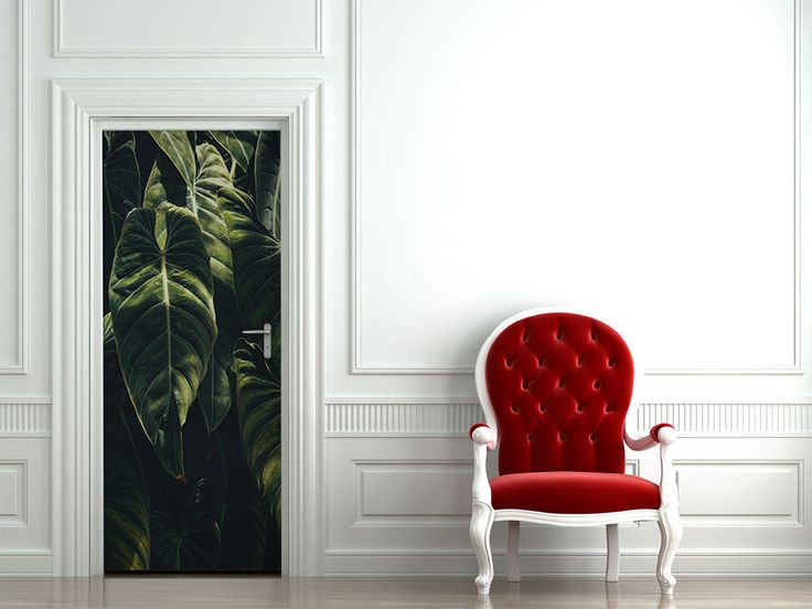 Jungle Leaf Door Mural & Best 25+ Door murals ideas on Pinterest | Door stickers Cool ... pezcame.com