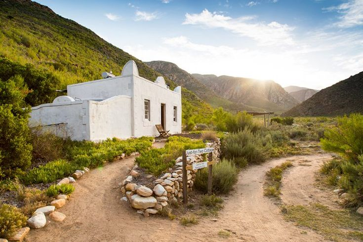 Such a cute cottage set in a wide valley fringed by tall mountains. The hike to the waterfall is one of the highlights of staying here- it's one of my best hidden swimming locations in South Africa.
