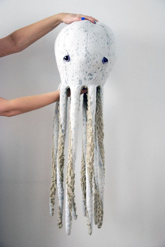 OverSized Handmade Plush- Octopus Stuffed Animal // Eco- Friendly // Natural Materials // Minimalistic cute creature For a Modern Nursery......