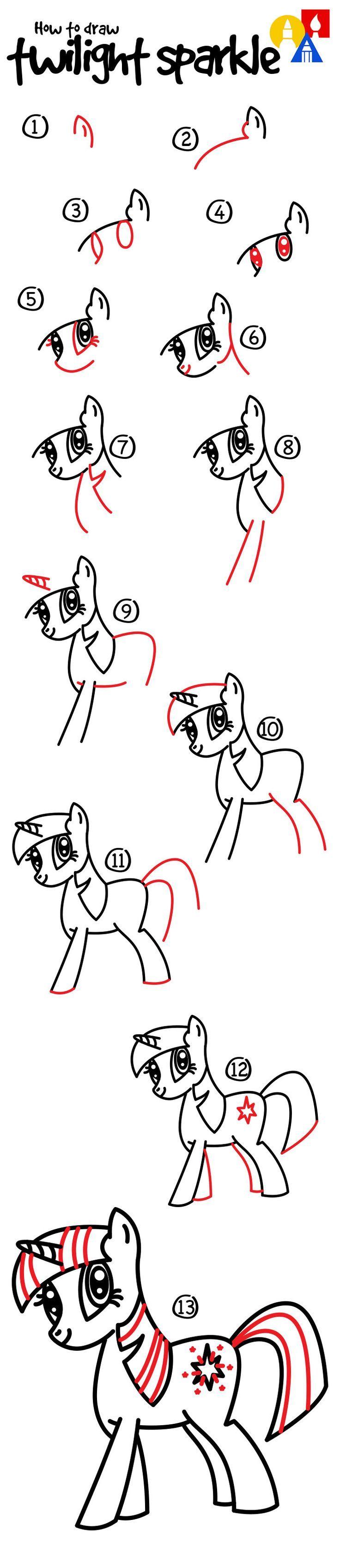 How To Draw Twilight Sparkle  Art For Kids Hub