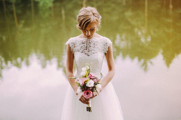 Fotografia Ślubna - Wedding - Fotograf Ślubny - Zdjęcia Ślubne - Bouquet - Suknia Ślubna- Wedding Photography - Portret Panny Młodej © http://www.kucytowski.pl/blog/weronika-marcin-fotografia-slubna-wpis