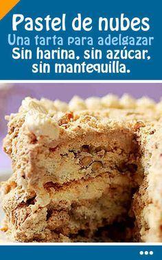Pastel De Nubes. Una tarta para adelgazar.