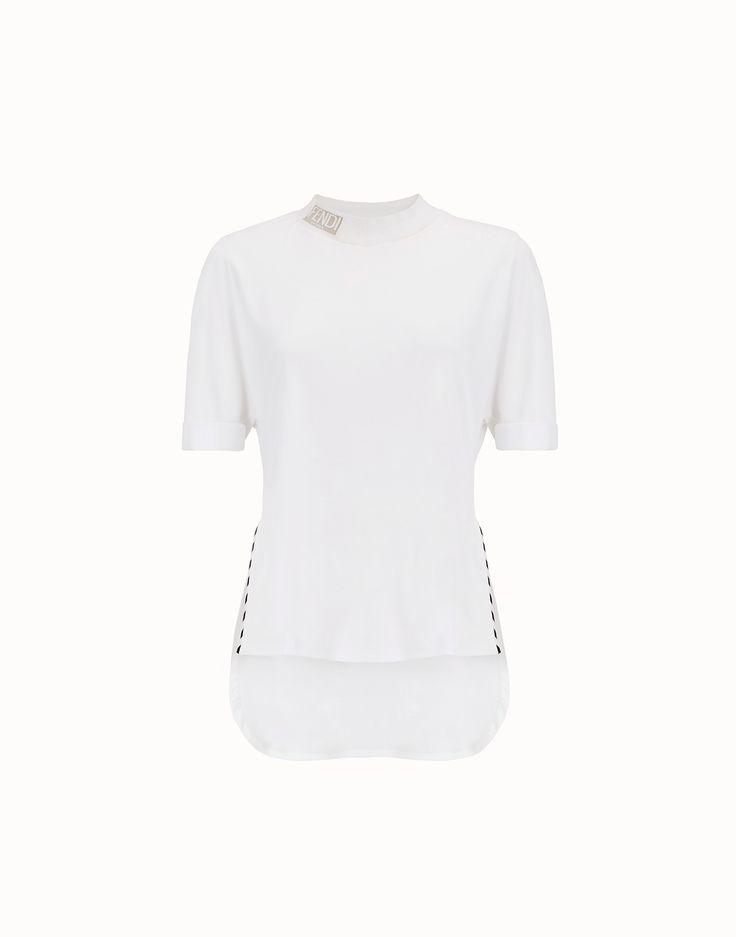 FENDI 티셔츠 - 화이트 컬러의 코튼 티셔츠 - view 1 zoom
