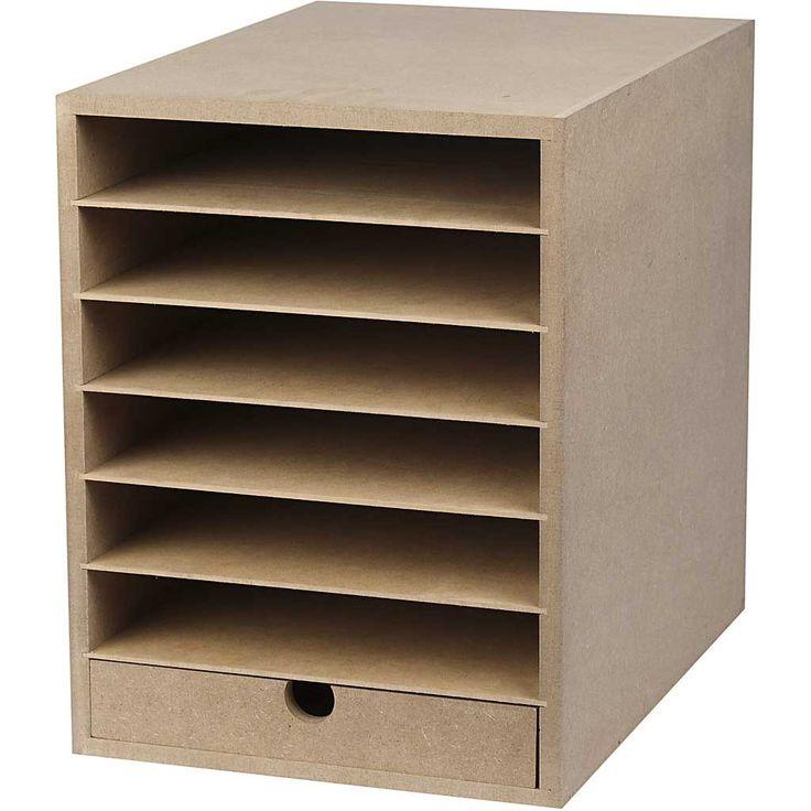 Papier opslag unit, A4 210x297 mm, diepte 32 cm, MDF, 1stuk