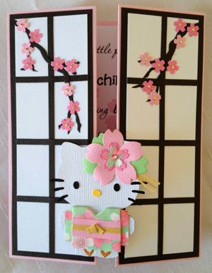 Gatefold Hello Kitty Kimono | Invitations | Parties | Oshare Girl Paperworks