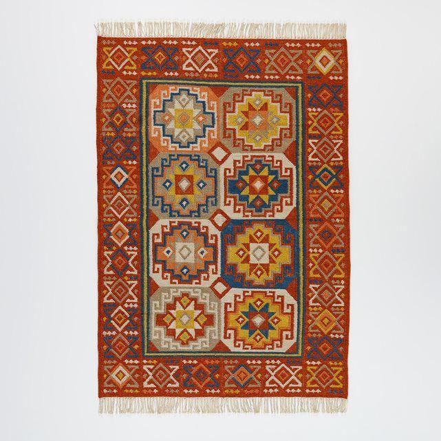 The Ferlichi Kilim Style Rug. Colourful Geometric Motifs