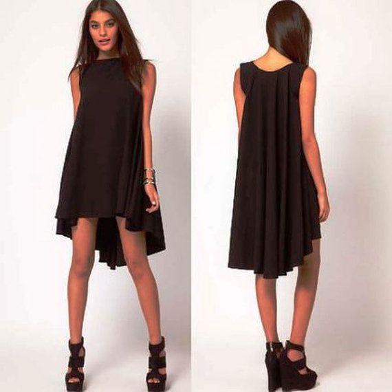 Scoop Back Full Dress Black Size Medium  Large by aMuseStore, $49.95