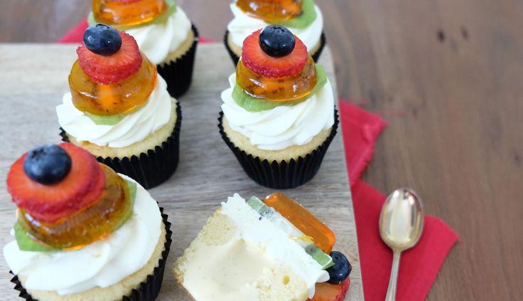 Custard Filled Trifle Cupcakes