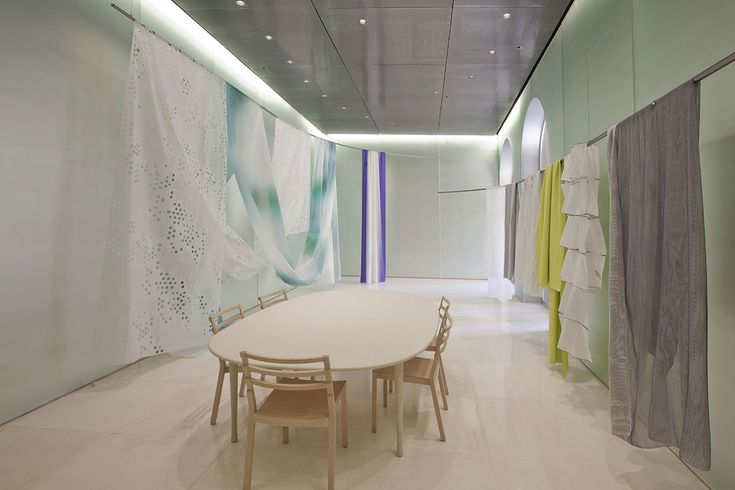 Toyo Ito creates a poetical, surreal setting for Kinnasand, allowing visitors to come into direct contact with the textiles #ArchiJuice #RetailDesign