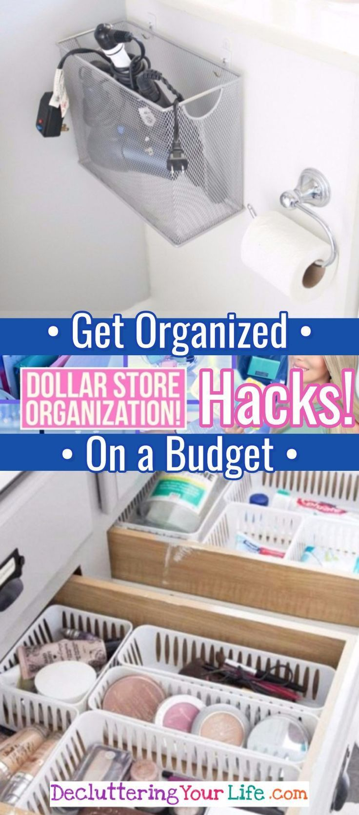 Awesome Dollar Store Amp Dollar Tree Organization Hacks For Organizing Your Home On A Budget In