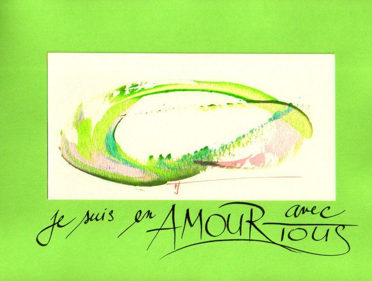 """Poissons : """" Je suis en amour avec tous """" L'image énergétique avec l'affirmation. : Soin, bien-être par frantiska-janeckova"""