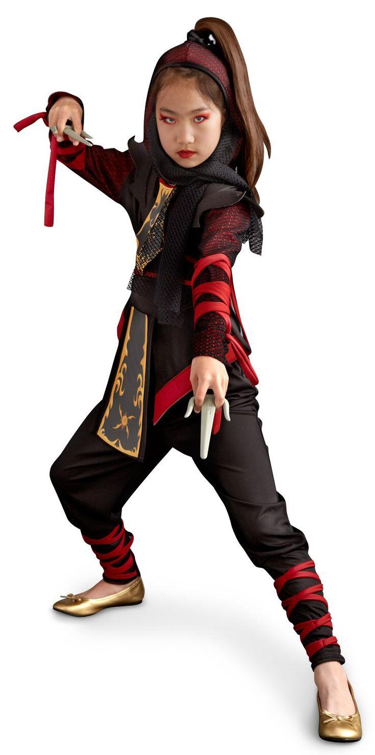 Ninja Dragon Child Costume | Best Girl ninja costume and Ribbon wrap ideas