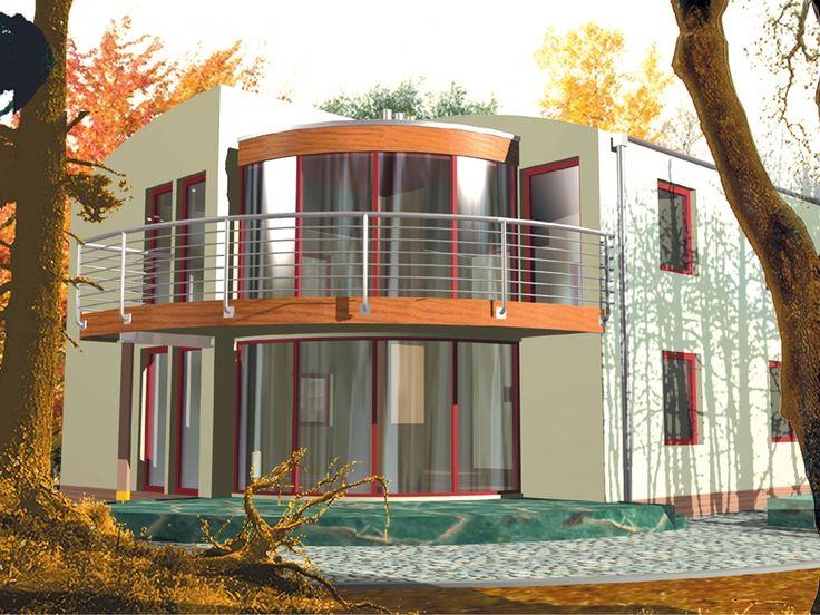 DOM.PL™ - Projekt domu AC Lechu (z wiatą) CE - DOM AE5-12 - gotowy projekt domu