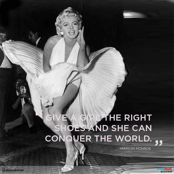 Fashion Quote of the Day – Marilyn Monroe - She was not just an actress, she was a sensation.  http://blog.snapdeal.com/fashion-quote-day-marilyn-monroe/
