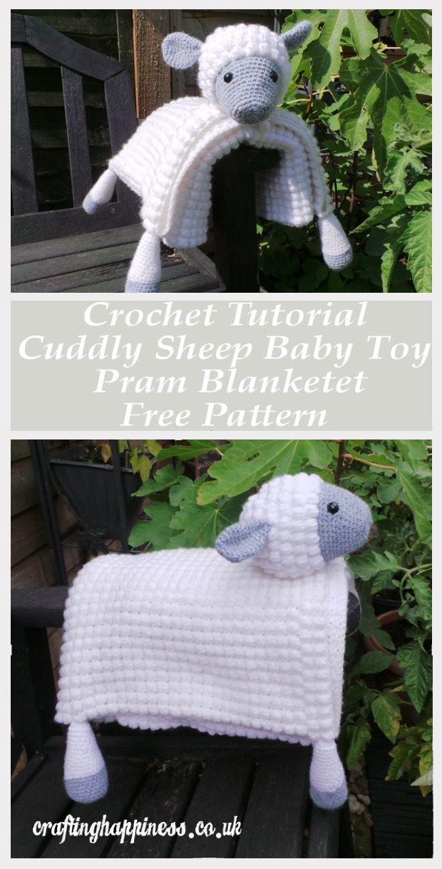 Häkeln Tutorial Kuschel Schafe Baby Spielzeug Kinderwagen Decke
