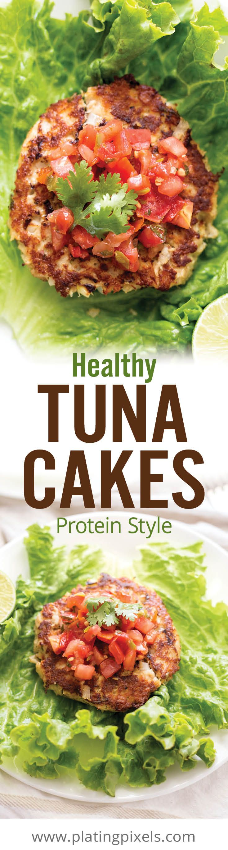 Easy and healthy tuna cakes in under 20 minutes! Albacore canned tuna cake…