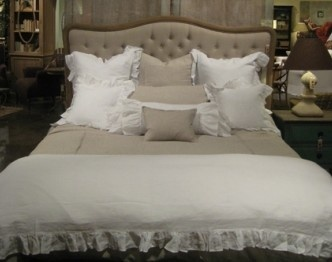 17 best ideas about burlap headboard on pinterest diy for Burlap and lace bedroom