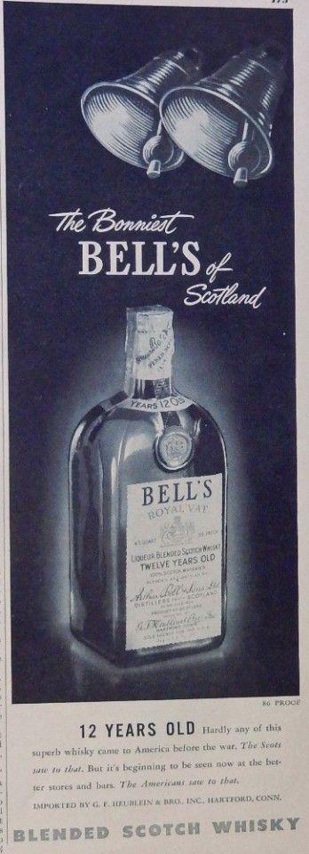 Bell s Royal Vat Scotch Whiskey  40 s print ad   the Bonniest  original 1948 Esquire Magazine art