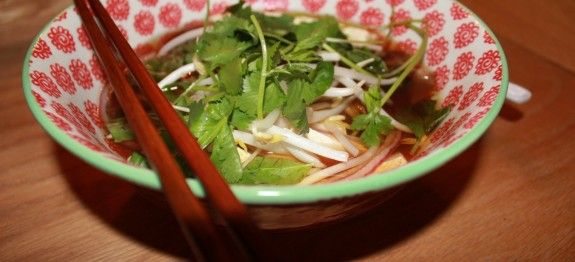 Vegan Pho Noodle Soup. Traditionally, pho is seriously beefy, but this ...