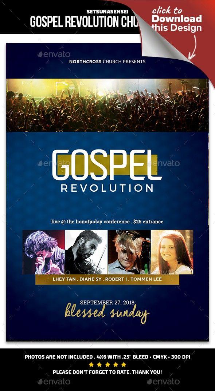 gospel revolution flyer revolution flyer layout and gospel concert