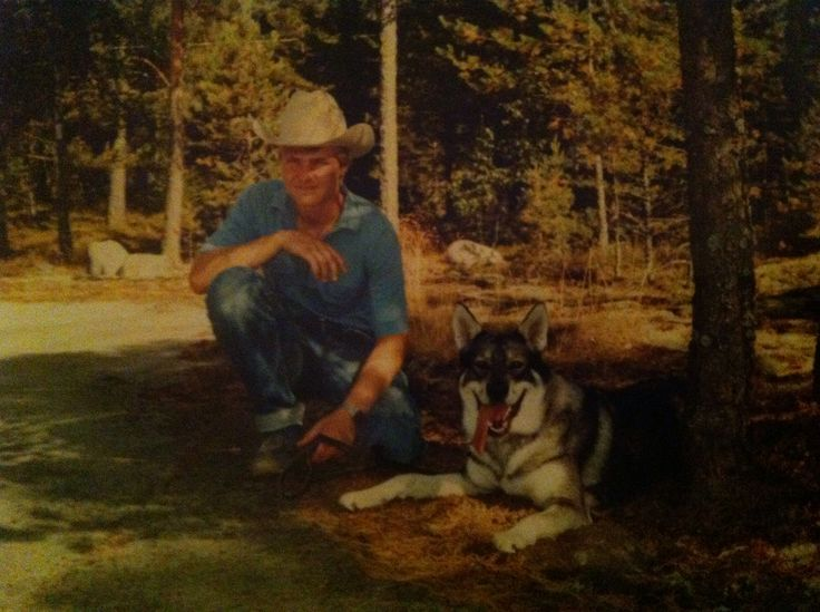 Oldie. Me on my teens with my former dog and best friend Vicky. She was a jämtlanninpystykorva. I wanted a dog which is like a wolf.