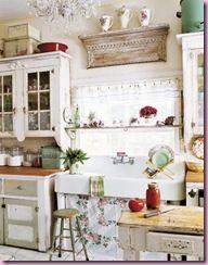 Shabby Chic Decor: Ideas, Kitchens Design, Houses, Vintage Kitchens, Shabby Chic, Sinks, Chic Kitchens, Farmhouse Kitchens, Country Kitchens