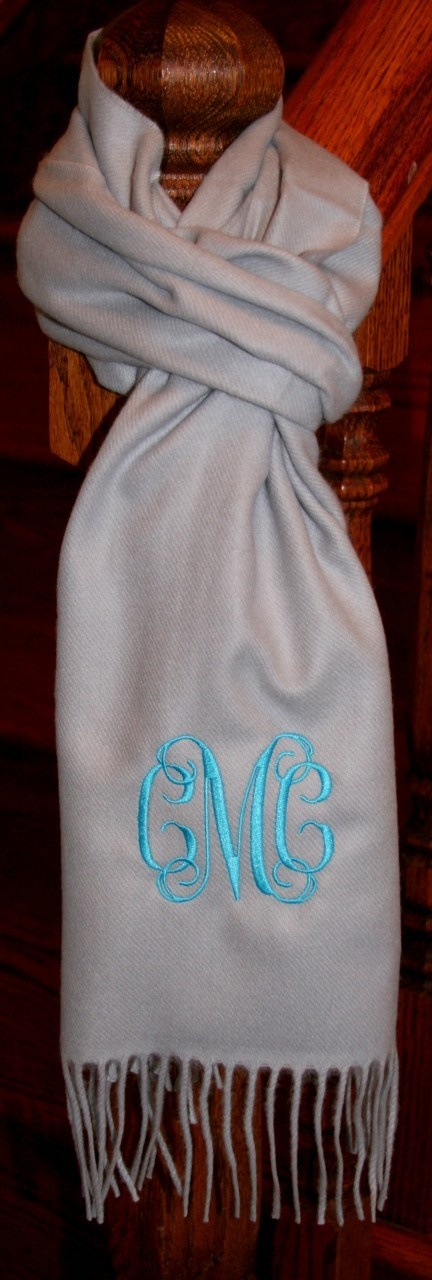Add this to your Christmas List .......monogrammed scarf! Love.