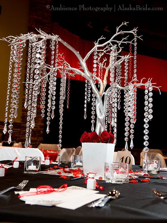 Hanging crystal centerpiece