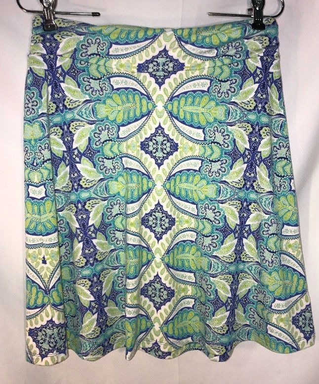 Dakini Athletic Skirt Small Paisley Green Blue Yoga SOFT!   | eBay