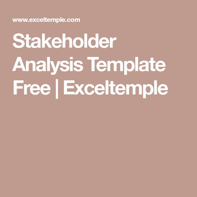 The 25+ best Stakeholder analysis ideas on Pinterest Stakeholder - analysis template