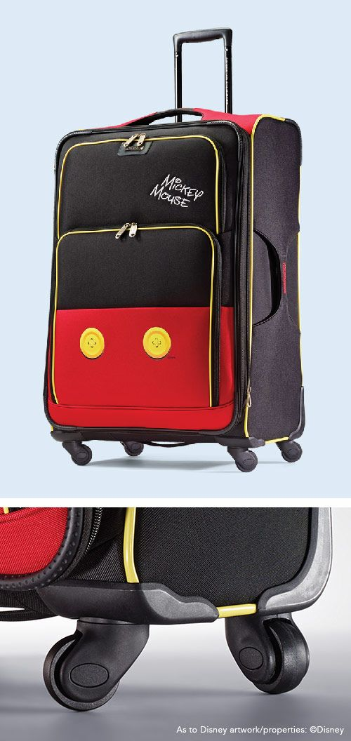 "Mickey Mouse Spinner Softside Pants 21"" and 28"" by American Tourister: The official luggage of Walt Disney World Resort and Disneyland"