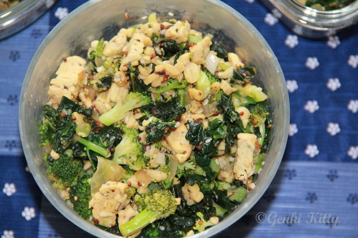 Sesame Kale Tempeh Glow Bowl Recipe and Video Vegan