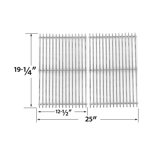 2 PACK HEAVY DUTY REPLACEMENT STAINLESS STEEL COOKING GRATES FOR JENN-AIR, BRINKMANN, CHARMGLOW, NEXGRILL, PERFECT GLO, TURBO AND CAPT'N COOK GAS GRILL MODELS Fits Compatible Jenn Air Models : 720-0165, 720-0511 Read More @http://www.grillpartszone.com/shopexd.asp?id=33956&sid=23770