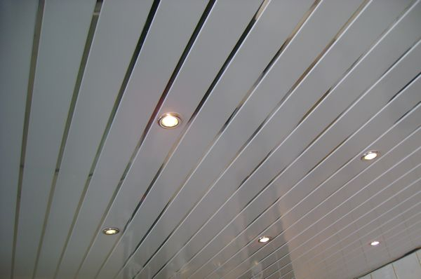 Pvc ceiling cladding bathroom ideas pinterest showers offices and metals for Plastic ceiling panels bathroom