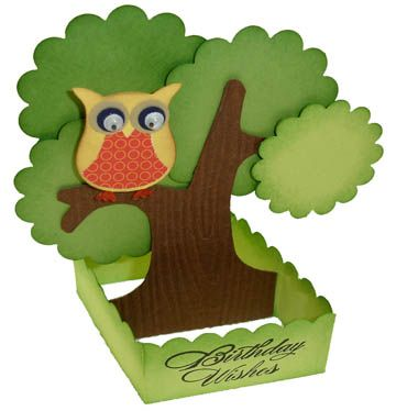 Owl Builder 3D Card by stampwithbernie - Cards and Paper Crafts at Splitcoaststampers
