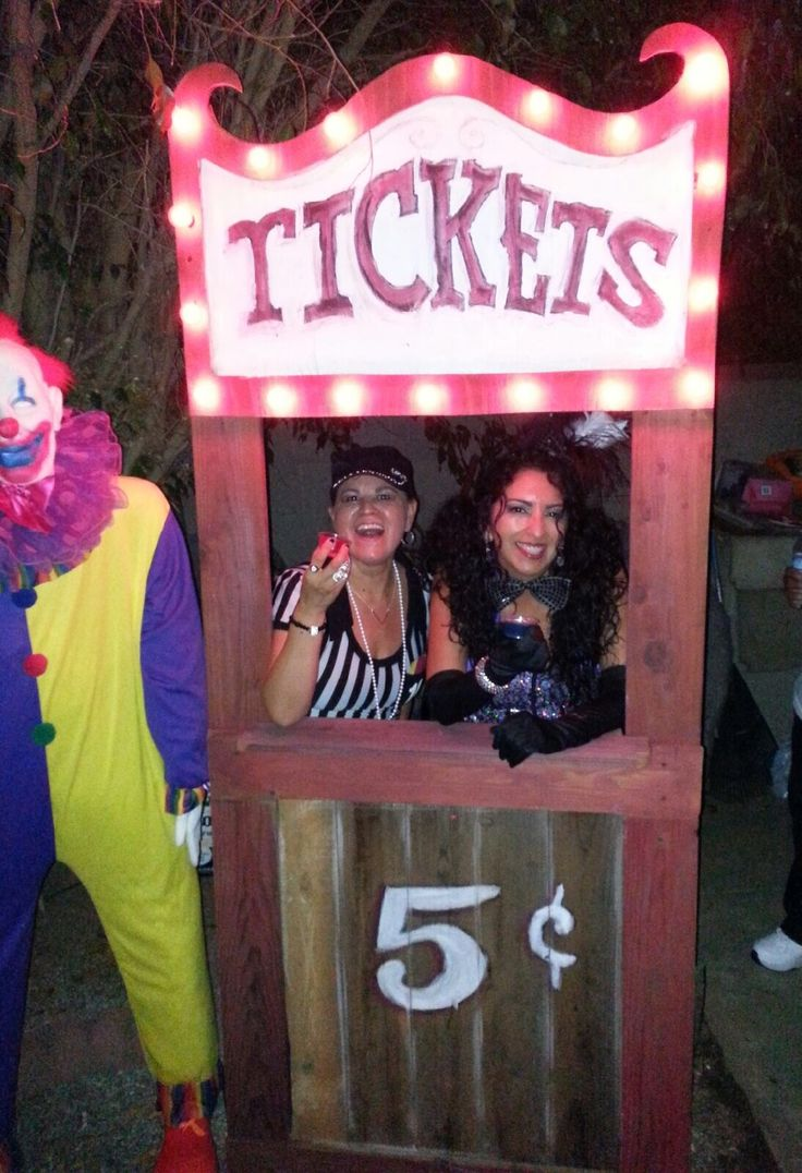Carnival Circus Ticket Booth Prop Halloween Pinterest