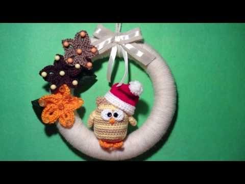 Ghirlanda ad Uncinetto -Tutorial- Guirlanda Crochet -Wreath Crochet #ghirlanda #uncinetto #tutorial #wreath #crochet #guirlanda #navidad  #christmas #croche #natale #idee #natal  #pattern #patron