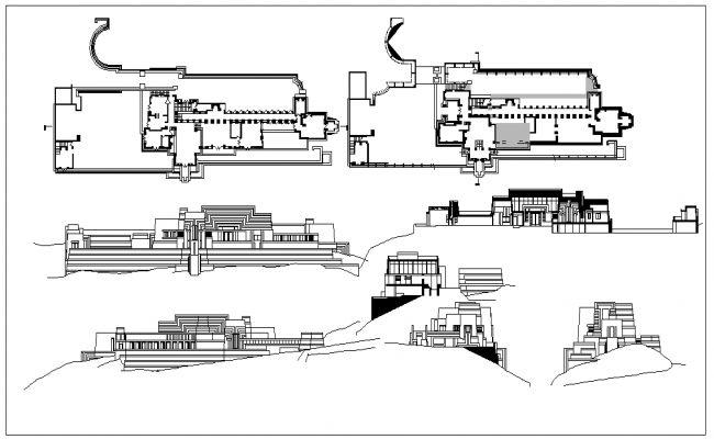 Ennis House Plans Ennis House House Plans For Sale House Blueprints Ennis house floor plan