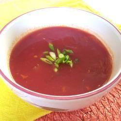 Mijn Chinese tomatensoep, bijna geen verschil met die van de chinees