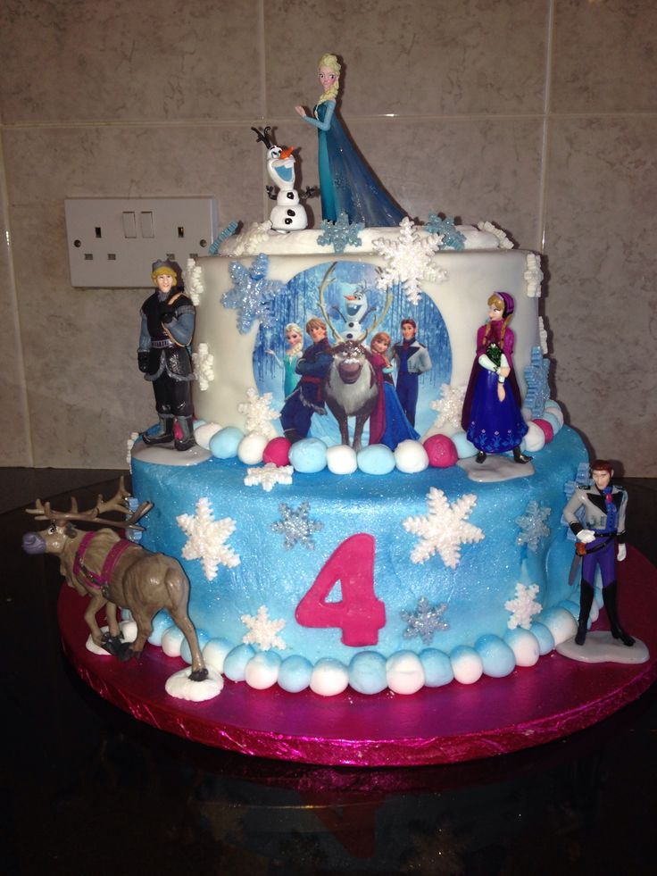 4th birthday disney frozen cake bday cakes pinterest