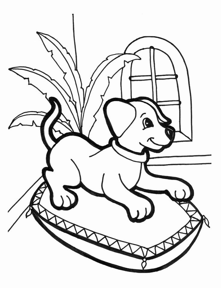 Cute Dog Coloring Page Luxury Free Printable Puppies ...