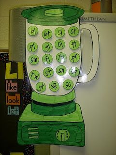 Cute idea, add blends to the BLENDer as they come up in your reading work. Cute blend search activity as well.
