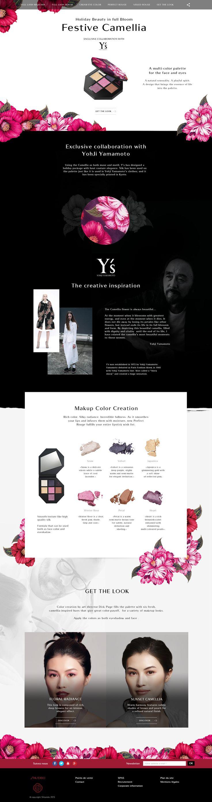 """Design & Création d'un mini-site en Responsive Design pour la marque de luxe """"Shiseido"""" - Xmas Palette - #luxe #design #responsive #scroll #clean #ux #ui"""