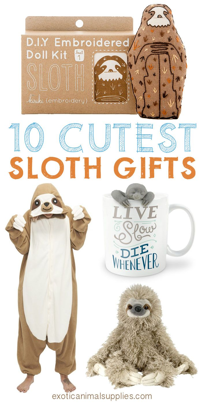 These are the cutest sloth gifts I've ever seen. I want to add them all to my wishlist. Christmas or birthday I'd love to get these awesome sloth gifts! Look at that mug, I love it!