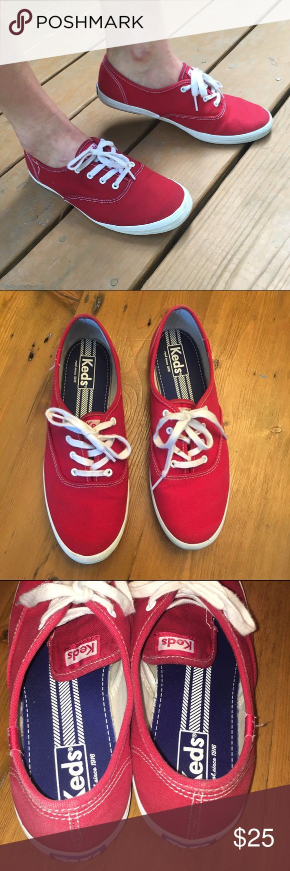 Classic Red Keds Sneakers Women's 8 Classic Red Keds Size 8. Worn once. Excellent condition. Keds Shoes Sneakers
