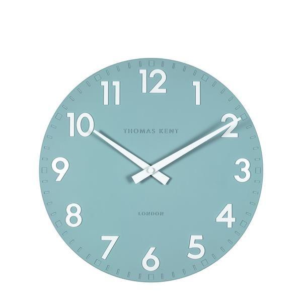Thomas Kent Camden Teal Wall Clock, 30cm – Beaumonde ®