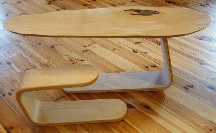 Kawowy stolik z magicznym zielonym okiem / Magic table w Art Wood Kawkowo na DaWanda.com