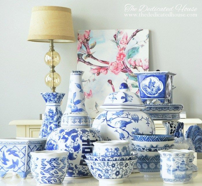 Stunning blue and white collection by Kathryn from the Dedicated House.