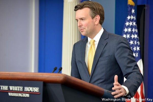 Josh Earnest, gay news, Washington Blade